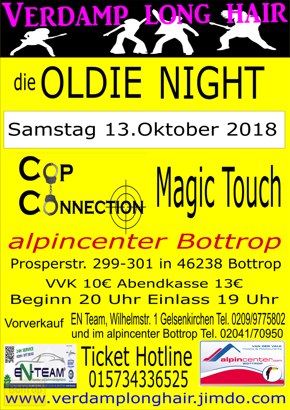 Flyer Oldie Night Alpincenter Bottrop