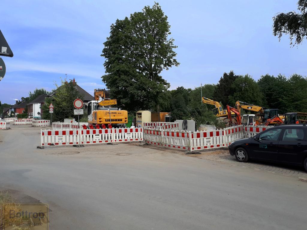 Baustelle von Westen