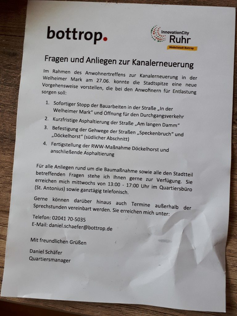 Flyer Kanalerneuerung 04.07.2018