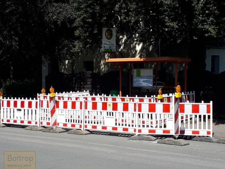 Baustelle an der Bushaltestelle