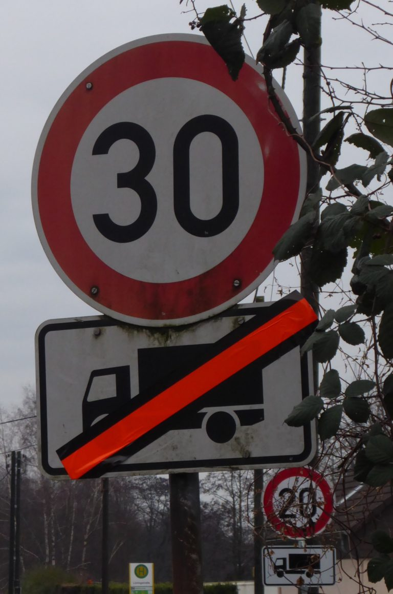 Geschwindigkeitsbegrenzung in der Welheimer Mark