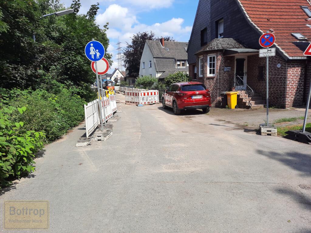 Baustelle Knappenstraße von Süden