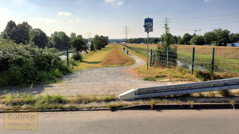Besserer Zugang zum Emscherradweg am Lichtenhorst