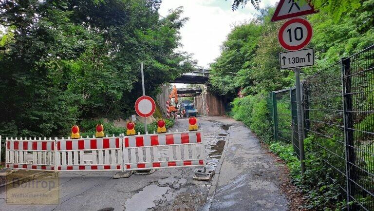 Knappenstraße gesperrt